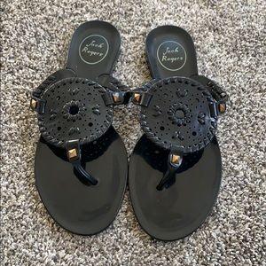 Black Jack Roger gel sandals size 7